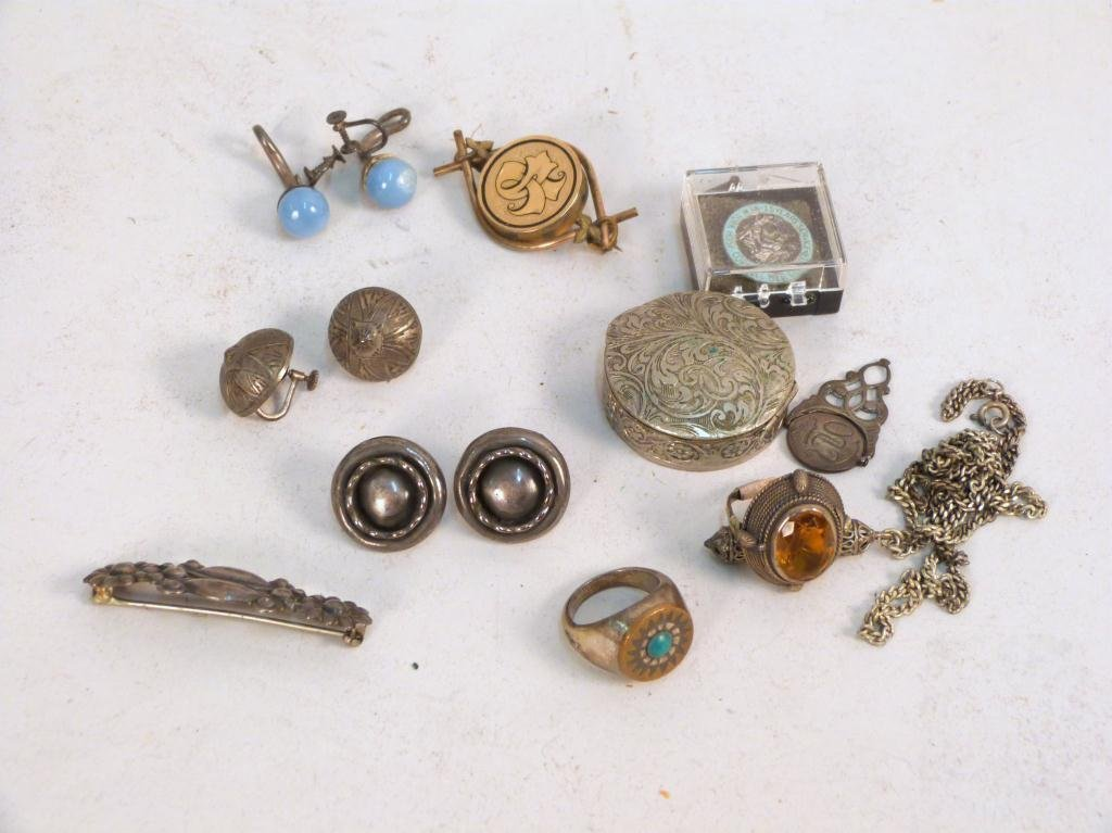 Assorted Sterling and Metal Jewelry