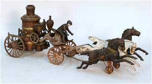 Vintage Cast Iron Horse and Carriage