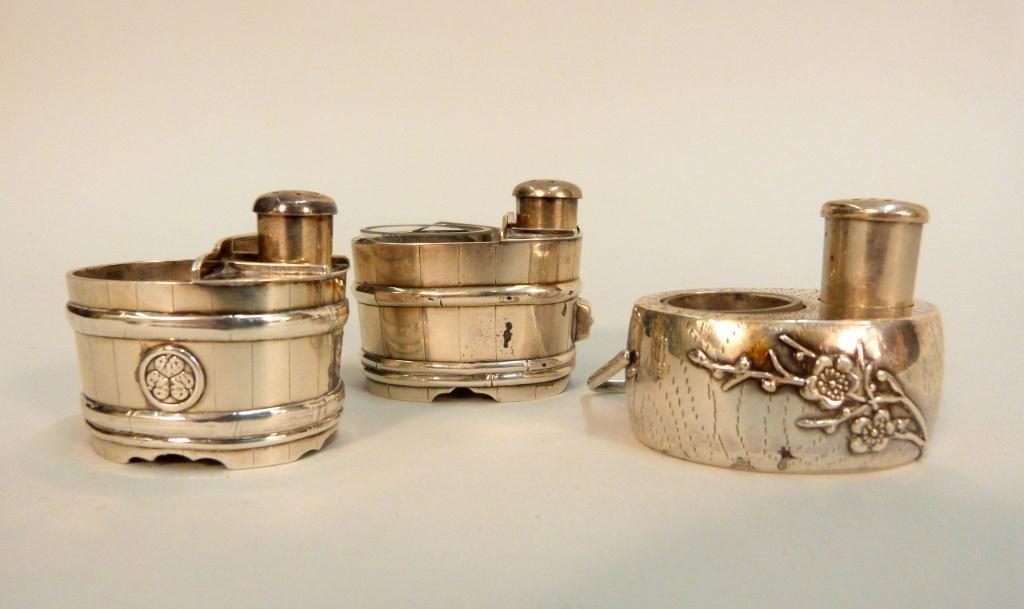 Set of Three Sterling Salts