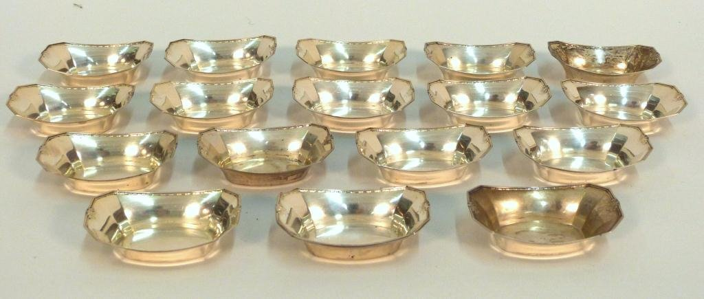 Set of 17 Sterling Nut Dishes