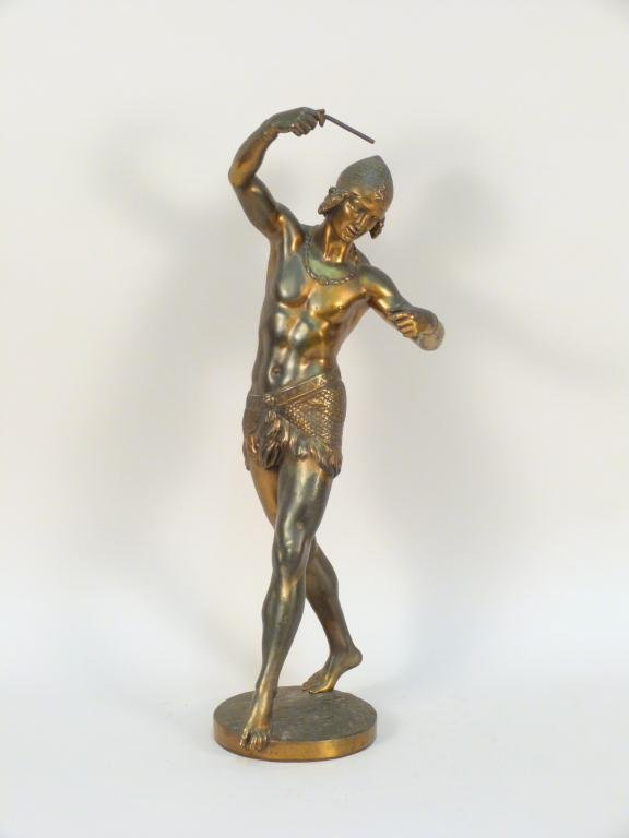 C.A. Bourgeois (1838-1886) - Bronze Male Figure