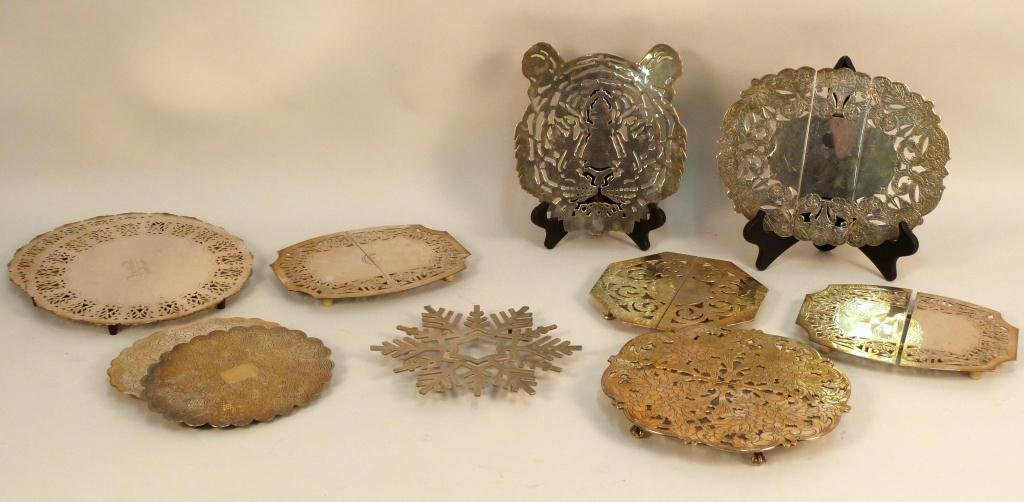 Collection of Silver Plated Trivets