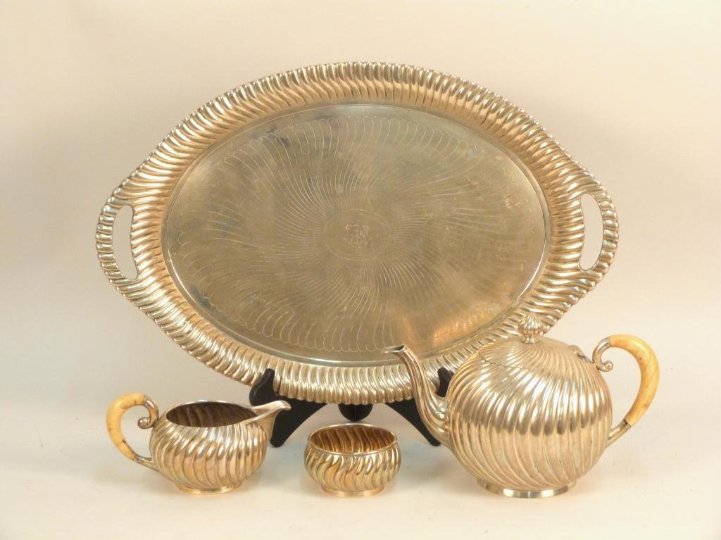 Four Piece Viennese Silver Coffee Service