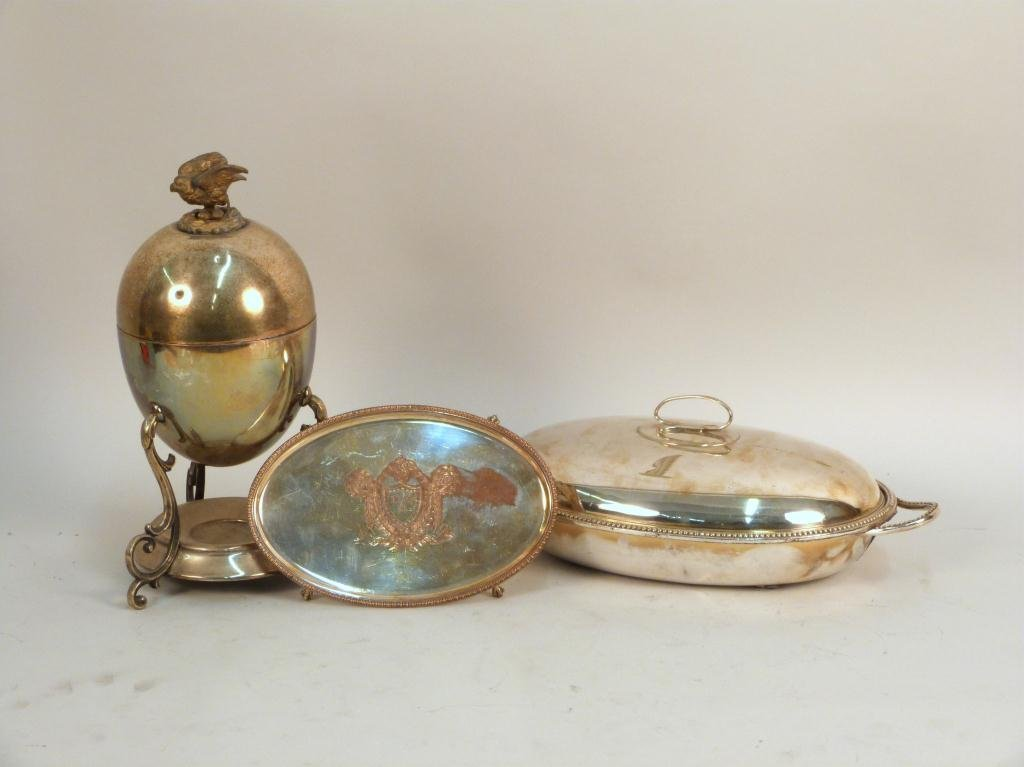 Three English Silver Plated Articles