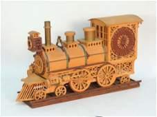 American Folk Art Locomotive