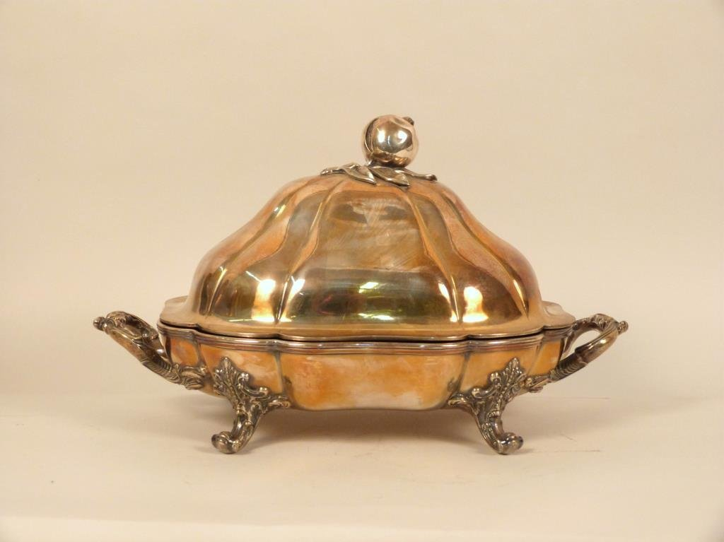 Covered Silver Plated Warming Dish