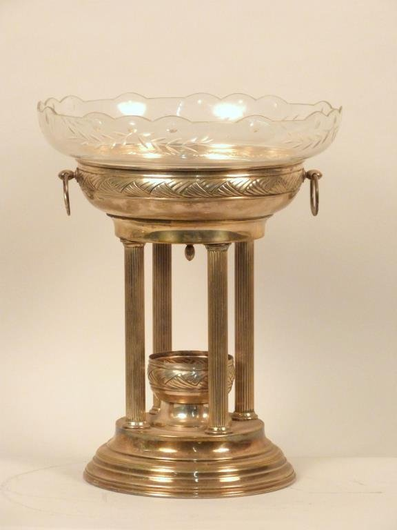 Neoclassical Silver Plated Centerpiece