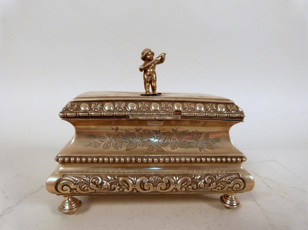 German Neoclassical Ladies Jewelry Box