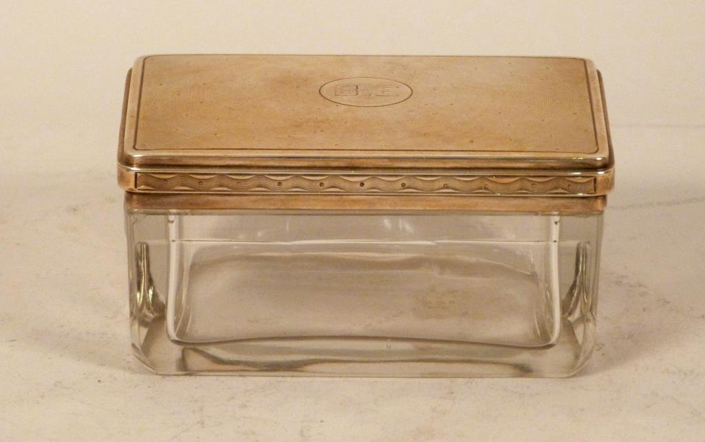 Hermes French Silver Dresser Box