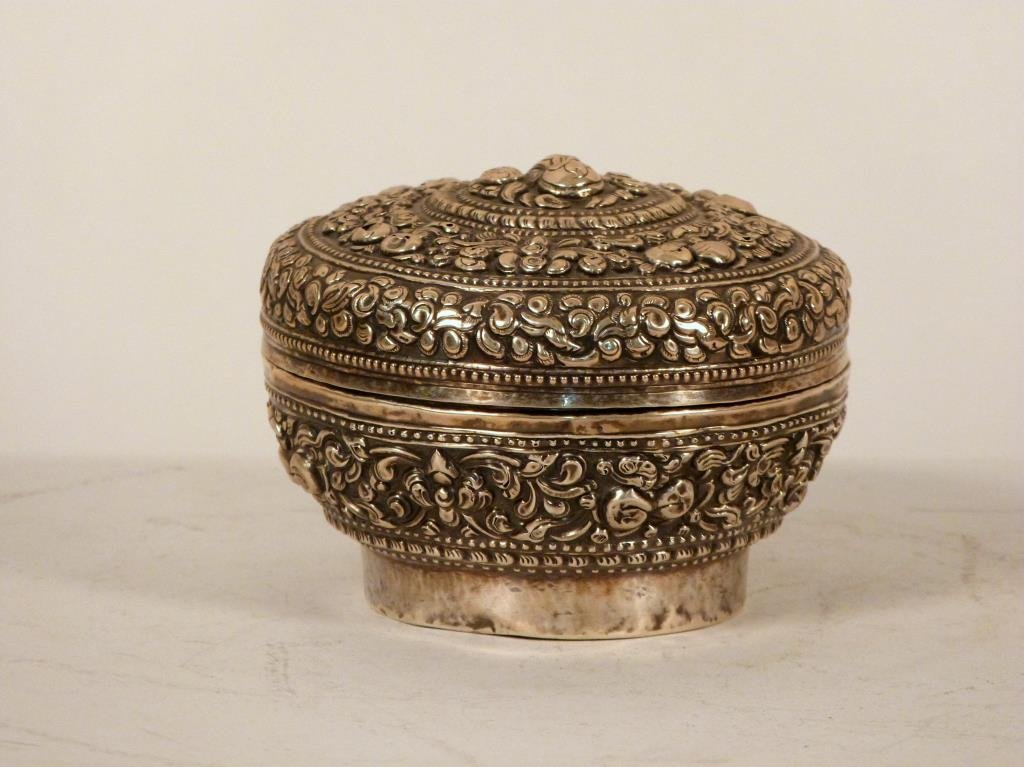 South East Asian Silver Covered Box