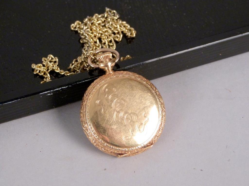 Vintage Elgin 14K Yellow Gold Pocket Watch