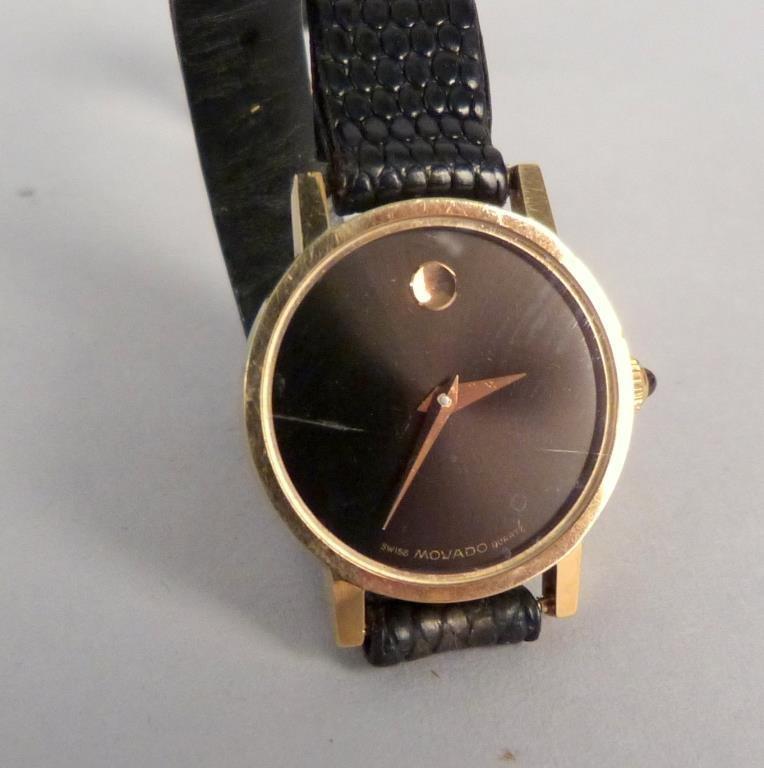 Movado 14K Gold Ladies Wrist Watch