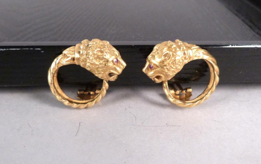 Pair 18 K Gold Ear Clips