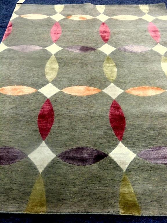 """David Shaw Nicholls Tibetan Wool/Silk 4'6"""" x 5'11"""""""