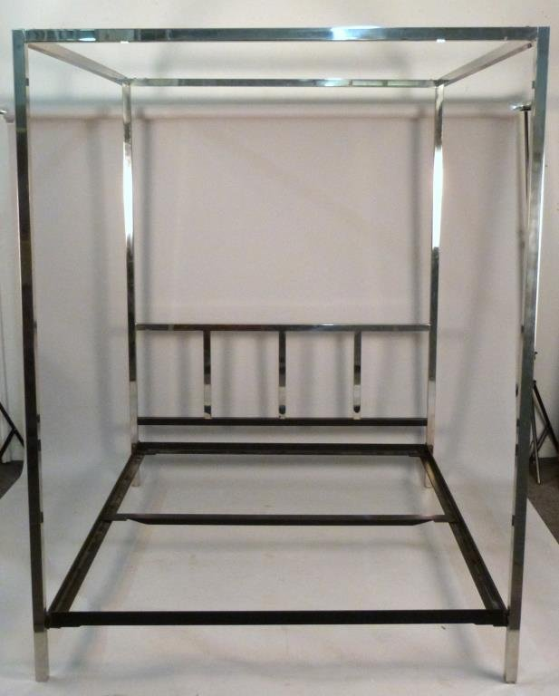 century chrome canopy bed