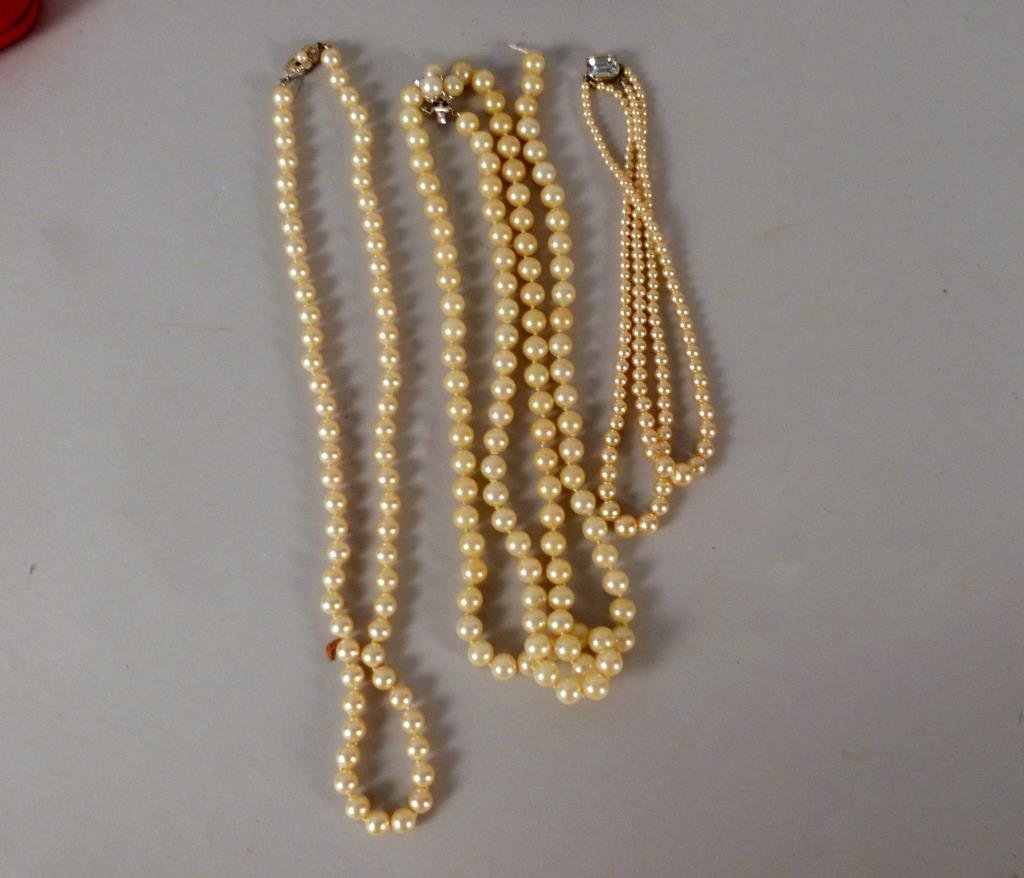 3 Strands of Costume Pearls