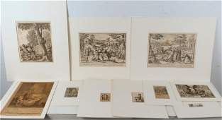 10 Old Master Style Etchings and Prints