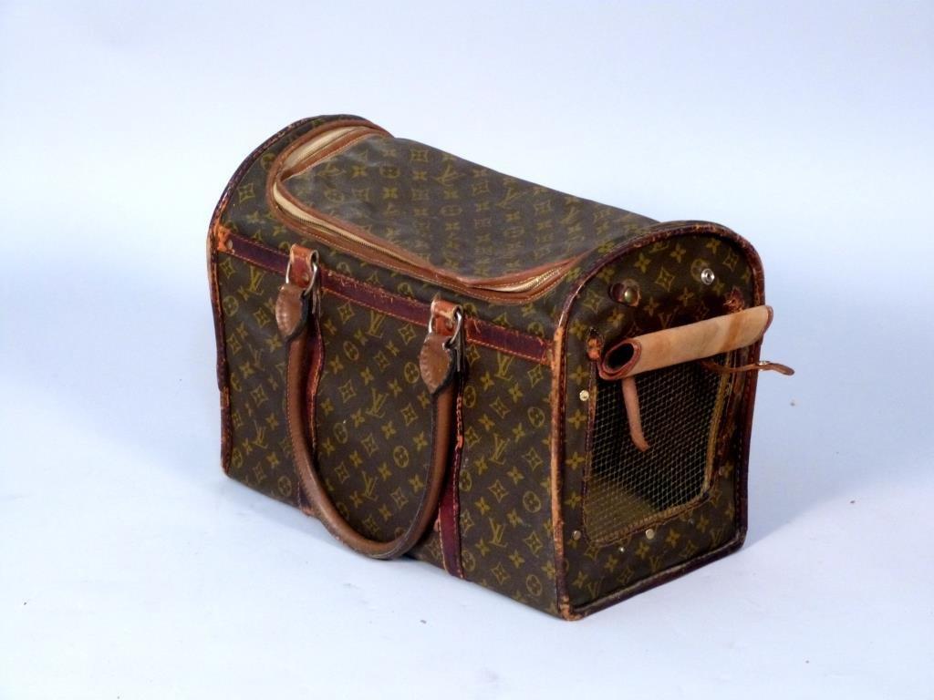 Vintage Louis Vuitton Soft Pet Carrier