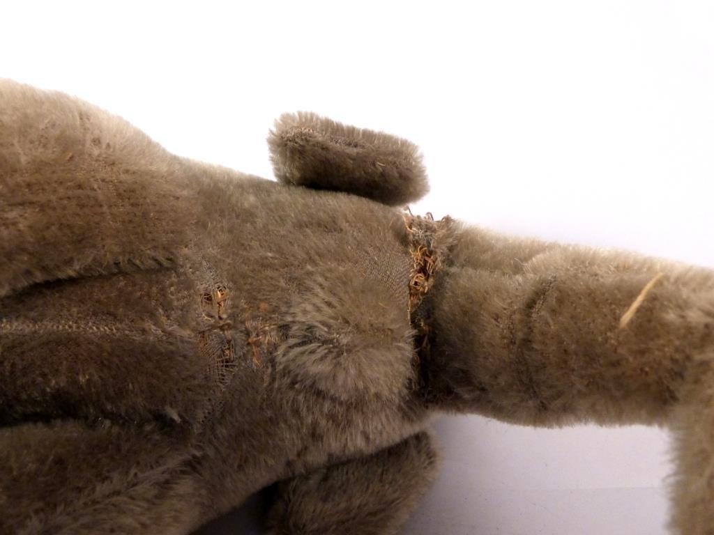 Stuffed Elephant Vintage Pull Toy on Wheels - 3