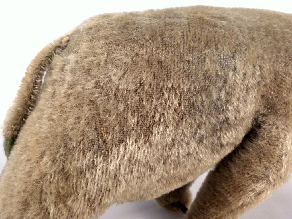 Stuffed Elephant Vintage Pull Toy on Wheels - 5