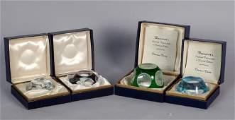 4 Baccarat Sulphide Paperweights