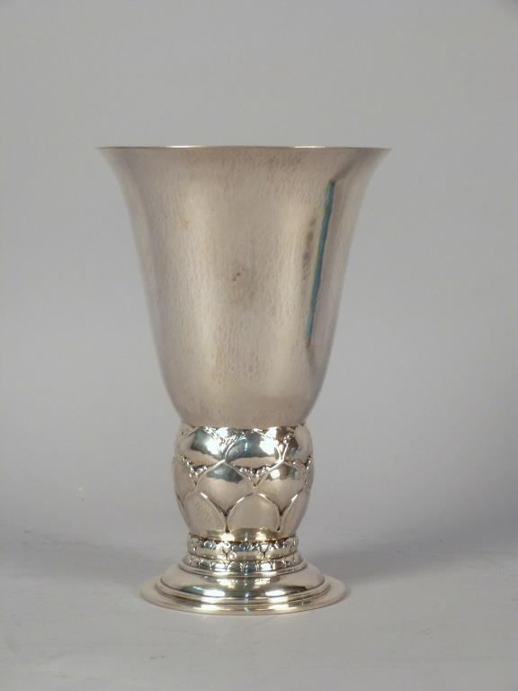 Georg Jensen Denmark Sterling Silver Vase