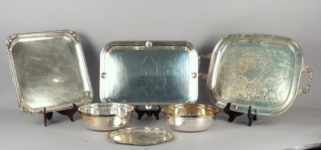 6 Silver Plated & Other Metal Articles