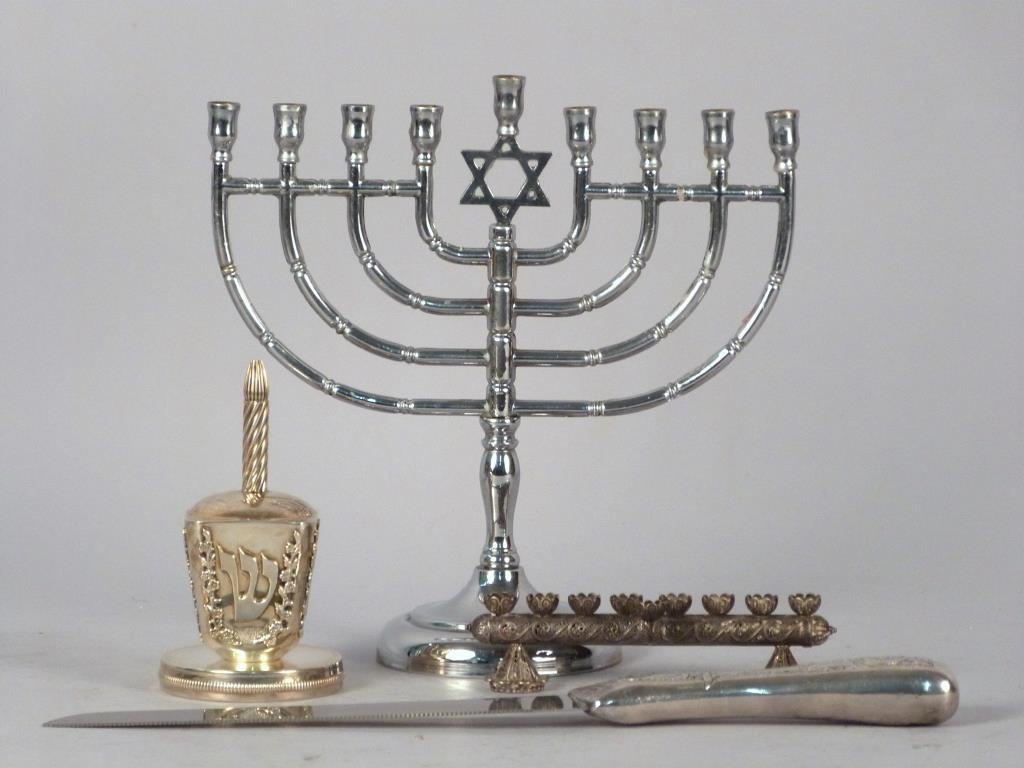 Assorted Sterling Silver & Other Judaica