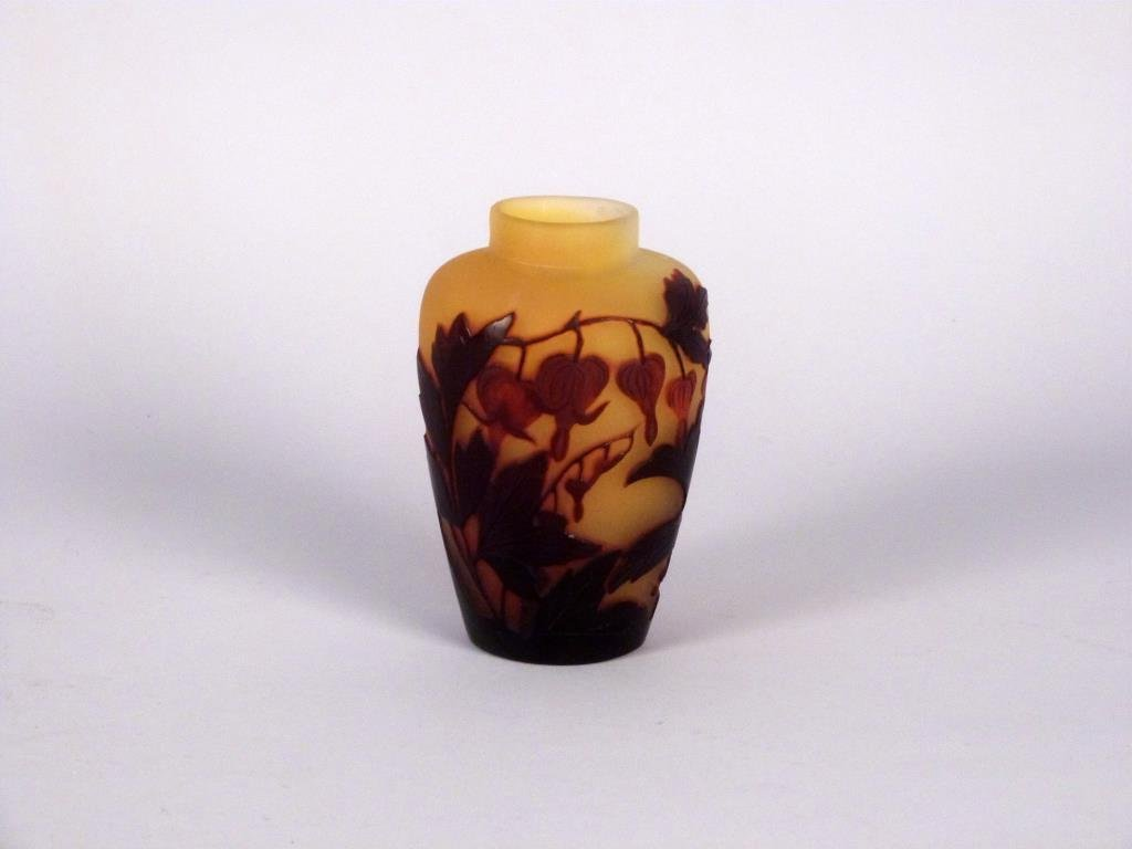 Signed Galle Cameo Art Glass Vase