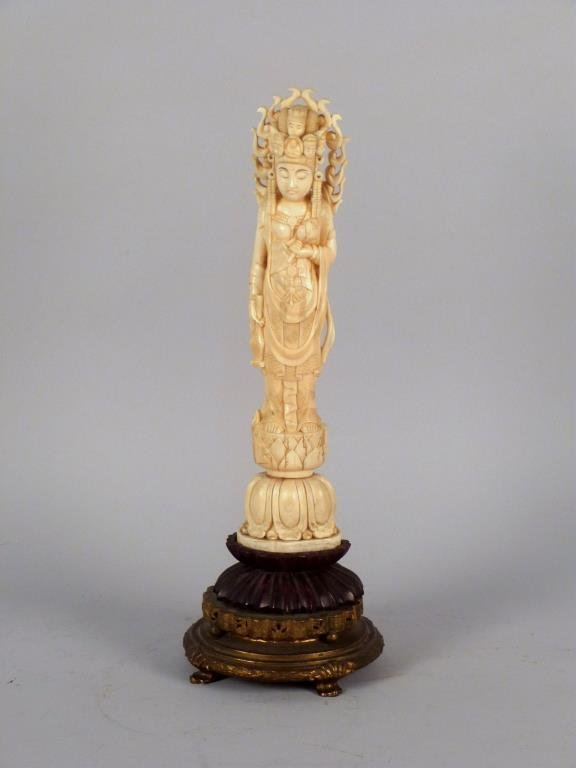 Chinese Carved Ivory Deity