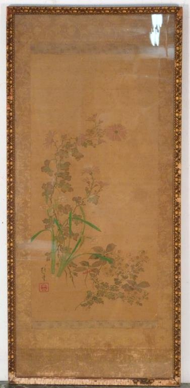 Japanese Framed Painting - Floral