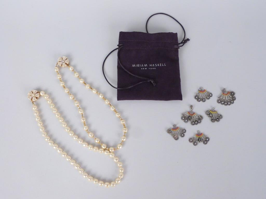 2 Miriam Haskell Costume Pearl Necklaces