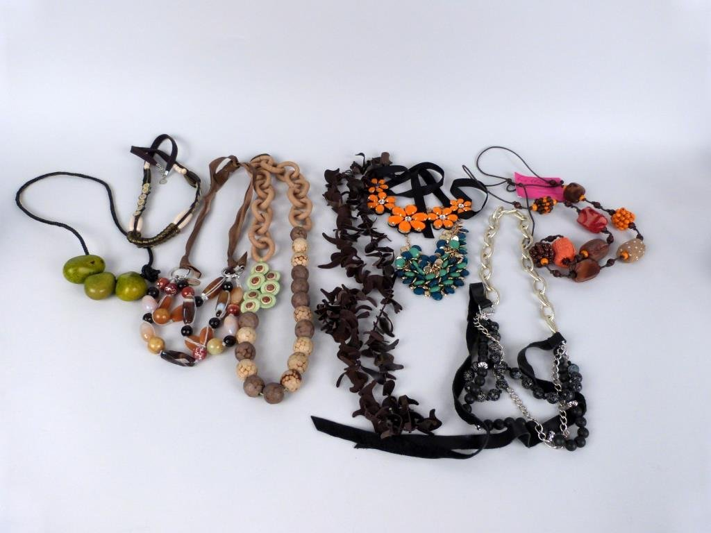 9 Assorted Costume Necklaces