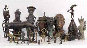 Large Collection of African Cast Metal Articles