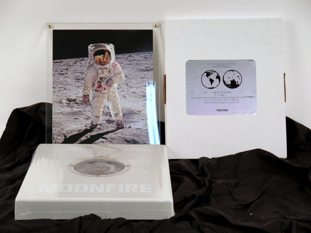 Buzz  Aldrin & Normal Mailer Moonfire Book & Photo