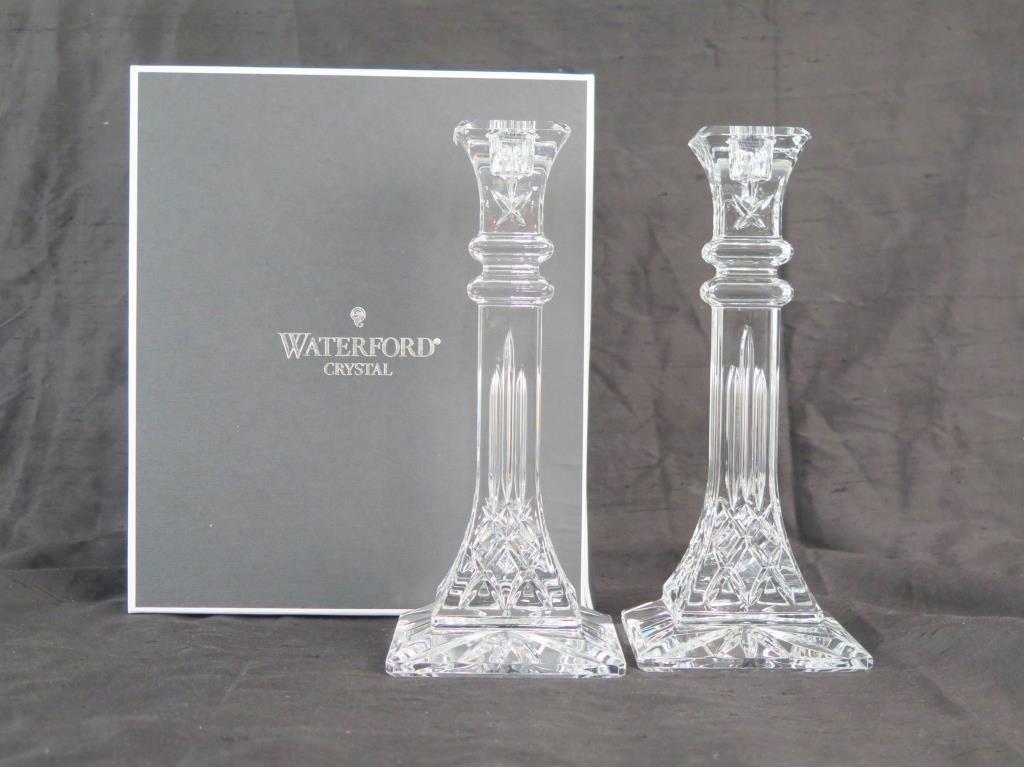 Pair Waterford Crystal Candlesticks