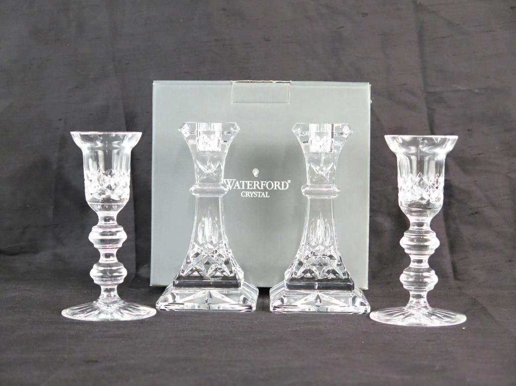 2 Pair of Waterford Crystals Candlesticks