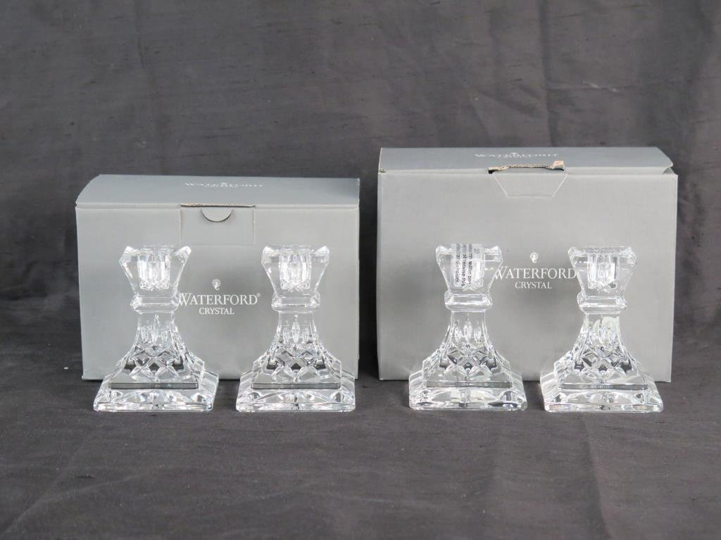 2 Pair of Waterford Crystal Candlesticks