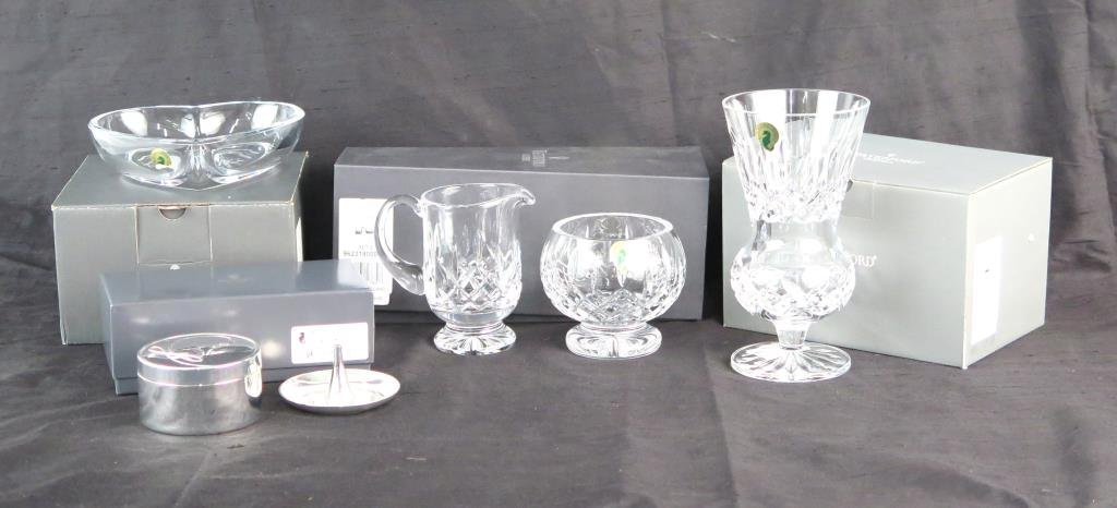 Assorted Boxed Waterford Crystal Articles
