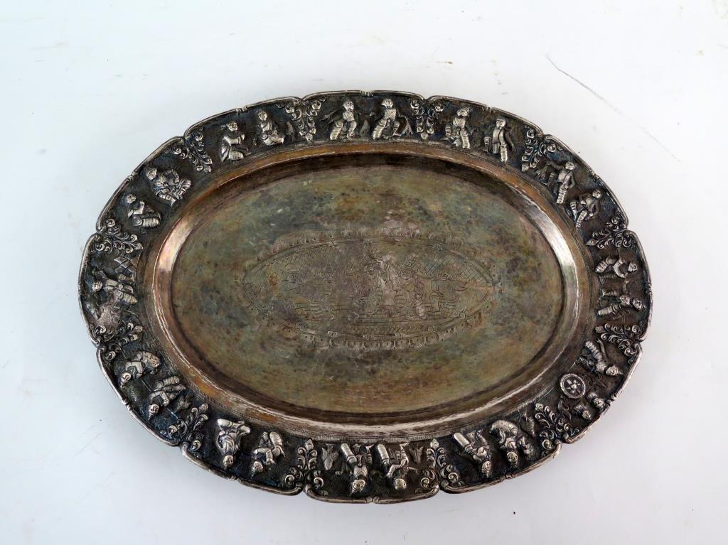 Burmese Silver Platter