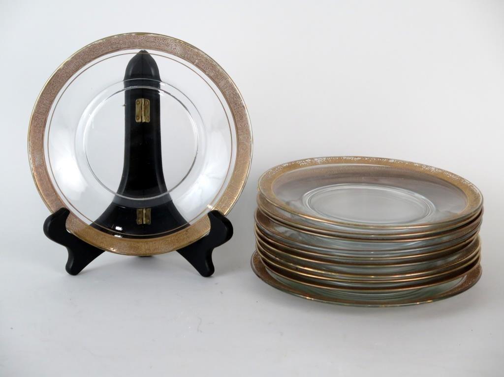 11 Gilt Rim Plates