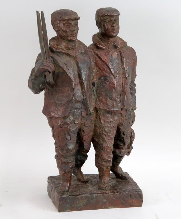 Chaim Gross (Austrian/American, 1904-1991)- Bronze