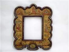 Dutch Style Painted Wood Picture Frame