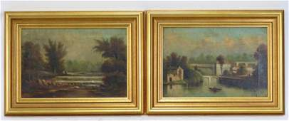 2 Antique Oils on Canvas