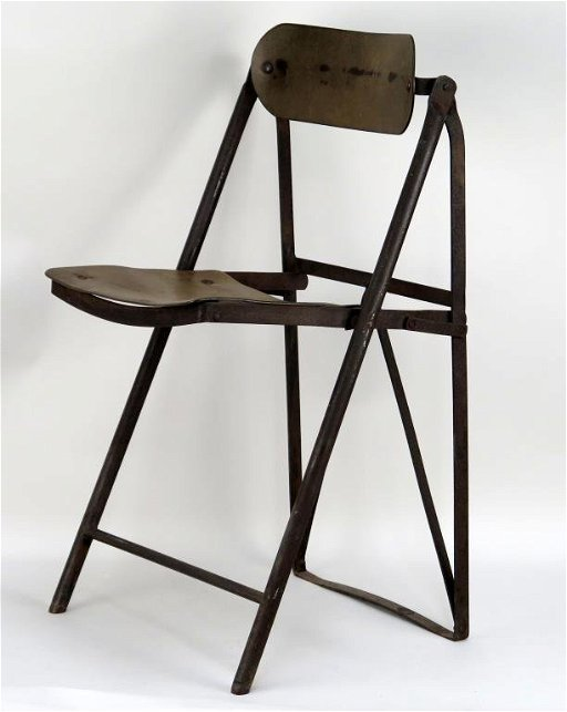 Superb Siege Bienaise French Industrial Folding Chair Caraccident5 Cool Chair Designs And Ideas Caraccident5Info