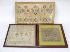 3 Antique Needlepoint Pictures