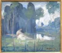 William Meyerowitz (American, 1887-1981)- Oil
