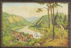 Hans Engel German b1924 Oil on Canvas