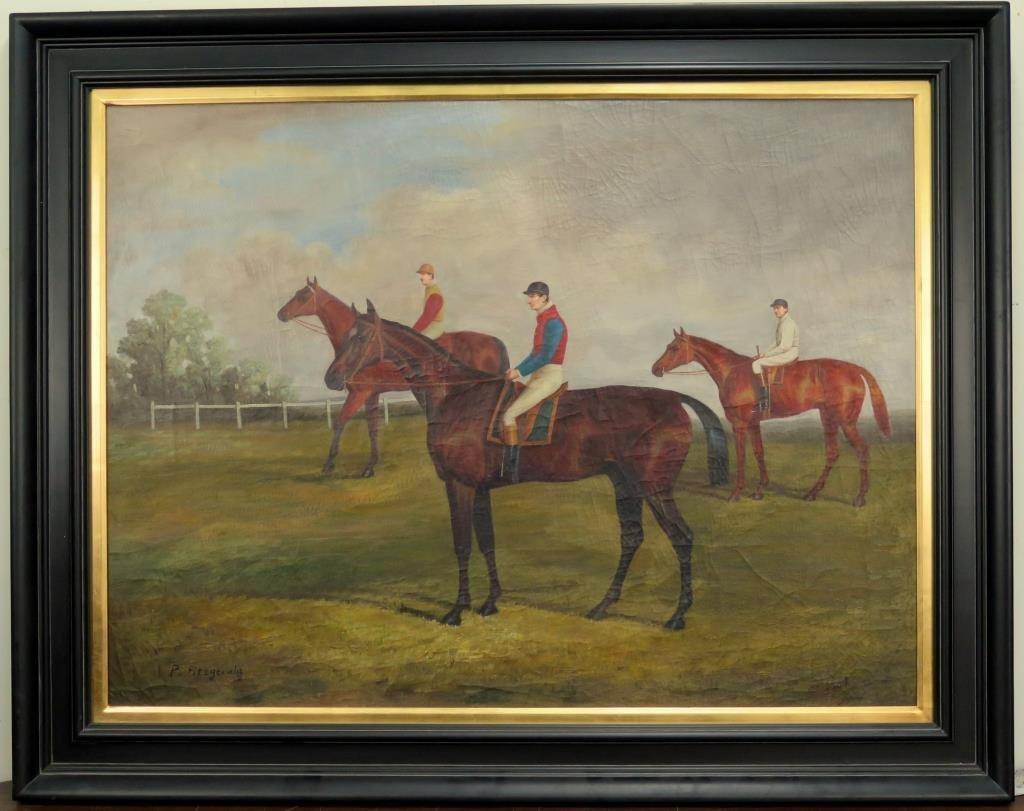 Decorative Oil on Canvas - Hunt Scene