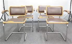 Set of 4 Knoll Breuer Chairs Circa 1972